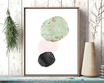 Pink blush art print, Affiche scandinave, Art print, Minimalist Wall Art, Printable wall art, Modern Scandinavian, Modern wall art