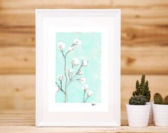 Cotton Flower Artwork