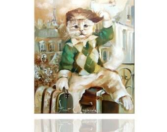 Print Parisian. FUNNY CATS.