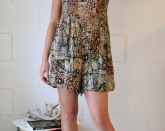 Romper designed with vintage textiles