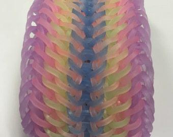 Pastel rainbow loom band bracelet