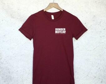 Dunder Mifflin Paper Co. Pocket T-Shirt - The Office Shirt - Dwight Schrute - Michael Scott - Jim Halpert - The Office T-Shirt