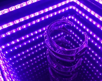 Infinity Mirror with Custom Centerpiece - Multicolor Remote Controlled