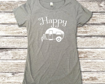 Happy Camper Shirt - Best Selling Item - Camping Shirt - Camp Shirt - Camping Clothes - Funny Camping Shirt - Tank Tops