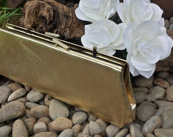 Gold vintage clutch/wedding clutch/gold wedding clutch/evening clutch/gifts for her/gold clutch