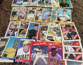 29 Pittsburgh Pirates Baseball Cards 1980's