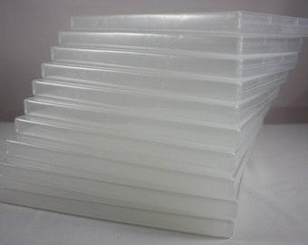 Stamp Storage Case Set of 10 Clear DVD Type Cases Acrylic Polymer Stamp Framelit Die Cut Storage Organizing Craft Supplies Make Art Kits