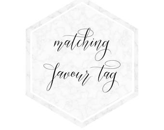 Matching Favour Tag for any PenPen Paper invitation