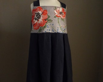 LINEN SCARF Dress Little Girls Size 10
