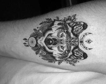 Wolf Temporary Tattoo