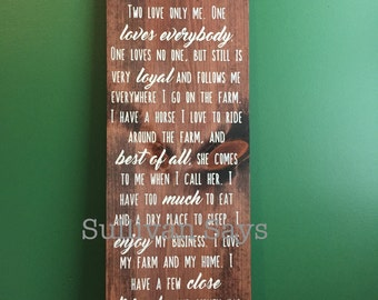 Ted Jones Quote  hand painted sign