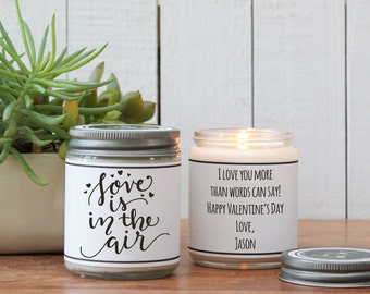 Love Is In The Air Scented Soy Candle - Scented Candle - Valentine's Day Candle | Valentine's Day Gift | Boy Friend Gift | Girl Friend Gift