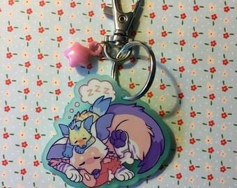 """Hyena Friends - 2"""" Keychain"""