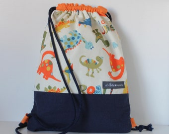 Child cord backpack. Dinosaur backpack. Jurassic collection