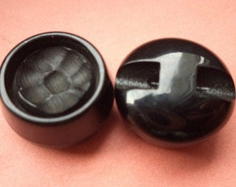 12 black buttons 17mm (2259) button