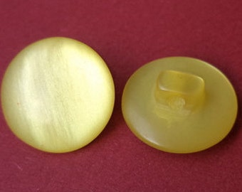 10 yellow buttons 16mm (3669)