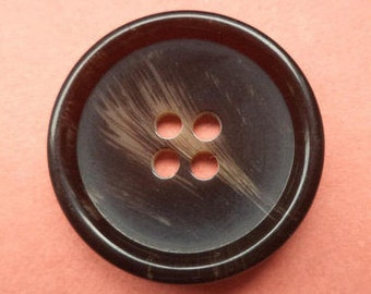10 buttons 23mm dark brown (5766) Brown