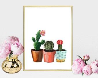 Printable wall art Digital Prints flower plants cactus