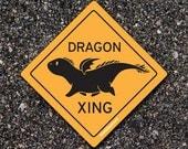 Vinyl Sticker - Dragon Crossing! Waterproof for Indoor or Outdoor use!