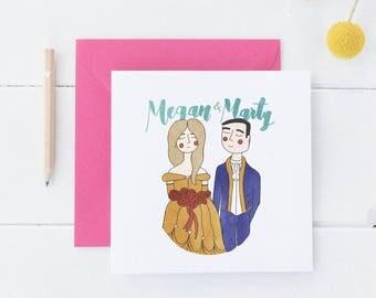 Disney Couple Illustration // Custom Couple Illustration, Custom Disney Illustration, Wedding Gift, Bridal Gift, Custom Couple Portrait,