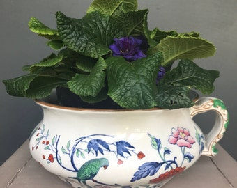 Vintage Booths China Chamber Pot / Planter c 1920s