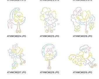 Little-Chick-in-The-Sky ( 10 Machine Embroidery Designs from ATW )