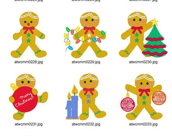 Gingerbread-Dolls ( 10 Machine Embroidery Designs from ATW )