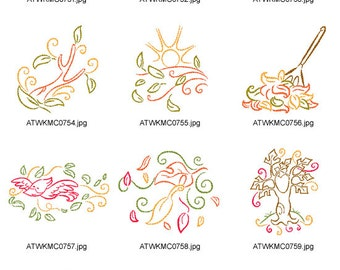 Art-Deco-Fall-Time. ( 10 Machine Embroidery Designs from ATW )