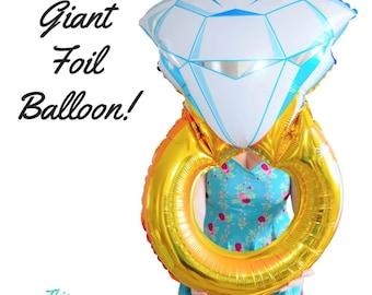 Gold Wedding Ring Balloon Bachelorette Giant Decoration Helium 103cm Foil Party Balloon!