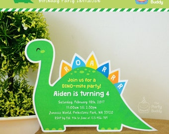 cute dinosaur invite | etsy, Einladungen