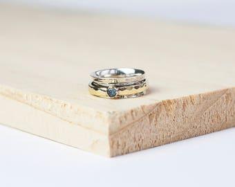 Arwen spinner ring, spinning ring, worry ring, fidget ring, anxiety ring, meditation ring, anxiety jewelry, spin ring, meditation rings