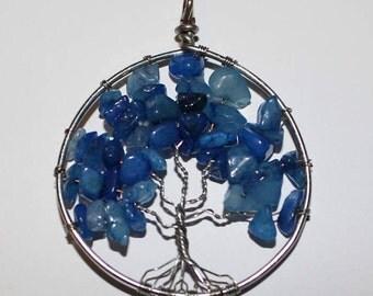 Blue Tree Pendant