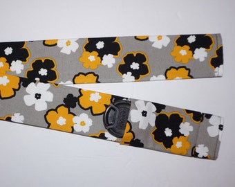 Yellow, White and Black camera strap cover a photographer gift