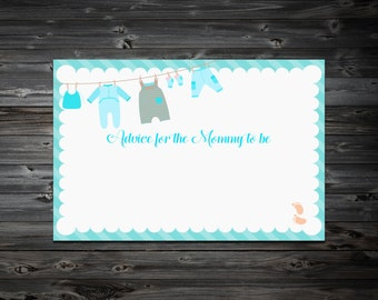 Baby shower Advice Card Printable,Advice for mommy to be,Advice for the new Mommy to be,Baby Shower Games
