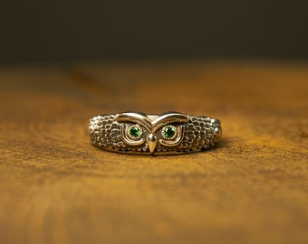 Owl Ring, Silver Owl, owl jewelry, birds jewelry, bird ring, hoot owl ring, owl lovers, silver bird ring, owl fashion, wise owl, owl wings