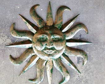 Metal Garden Decor, Garden Decor, Metal Sun, Sun Wall Art, Outdoor Wall