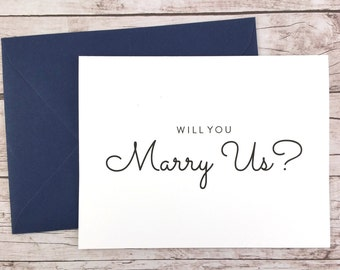 Will You Marry Us Card, Will You Be Our Officiant Card, Wedding Card- (FPS0016)