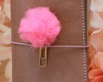 Pink Tulle Poof Plannerclip Paperclip