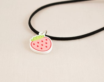 Acrylic necklace or choker - Strawberry