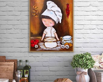Kitchen Wall Art Decor modern kitchen art | etsy