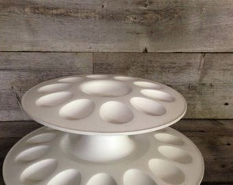Tupperware 2 tiered deviled egg tray