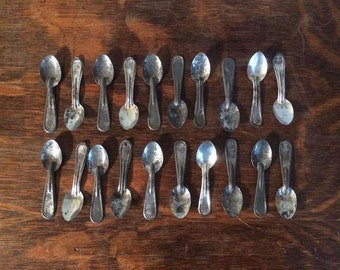Silver Plated Ice Cream Spoons - Lot of 20 Antique Spoons - REDUCED PRICE