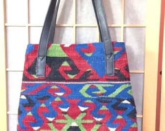 Vintage Turkish tapestry purse