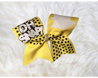 Oh Snap Cheer Bow~Snapchat Bow~Snapchat~Oh Snap~Cheer Bows