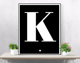 Kate spade quote poster printable art minimalist fashion for Minimalist living in college