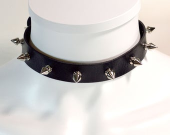 Spiked Choker Collar - 0.75 Inches Wide - Spiked Choker - Free US Shipping