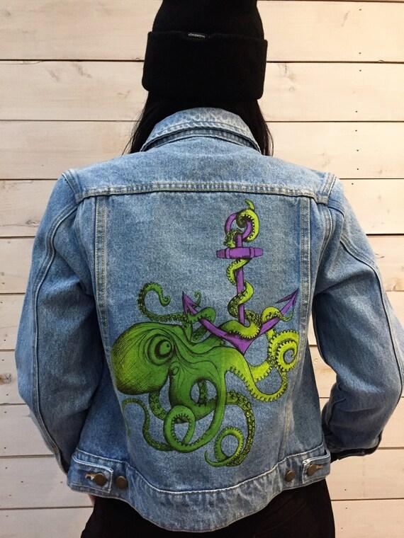Octopus jean jacket