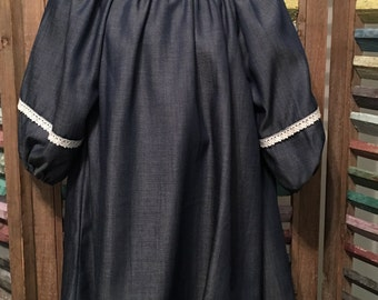 Denim girls peasant dress, Girls summer dress, Size 2, toddler clothing, Boho girls dress, Girls fall peasant dress, Girls clothing, #104
