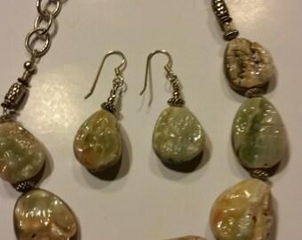 Chunky Shell Stones, Necklace Set