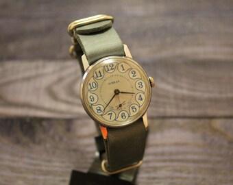 Pobeda Mens Watch - Soviet Watch - Wrist Watches for Men - Blue Watch - Victory Wristwatch - Gift for Men - Vintage Watch for Men